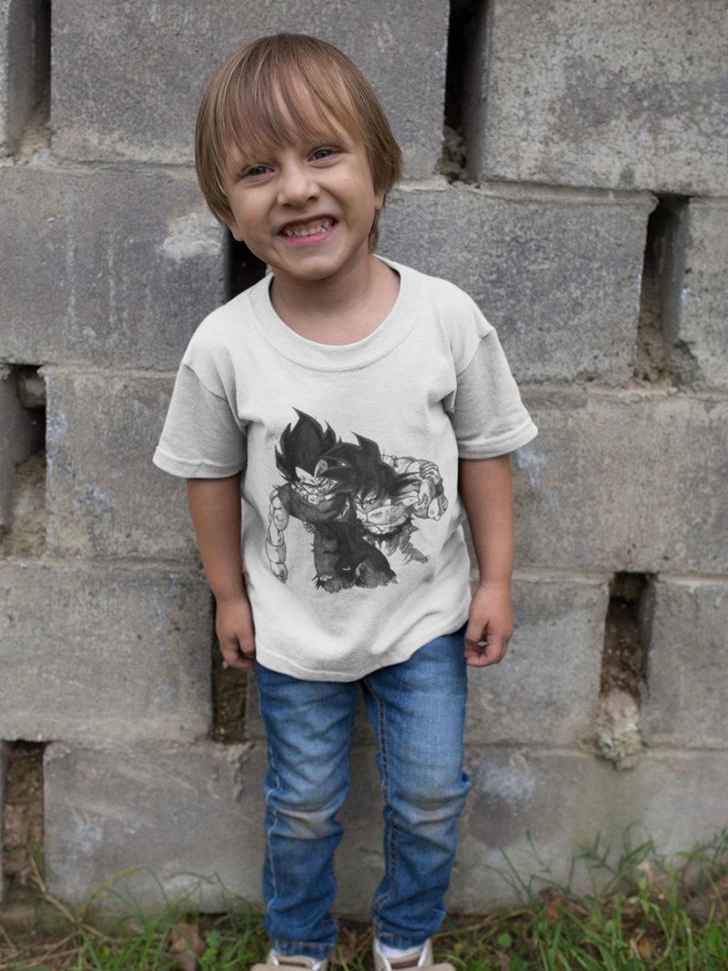 camiseta de goku y vegeta dragon ball para niño