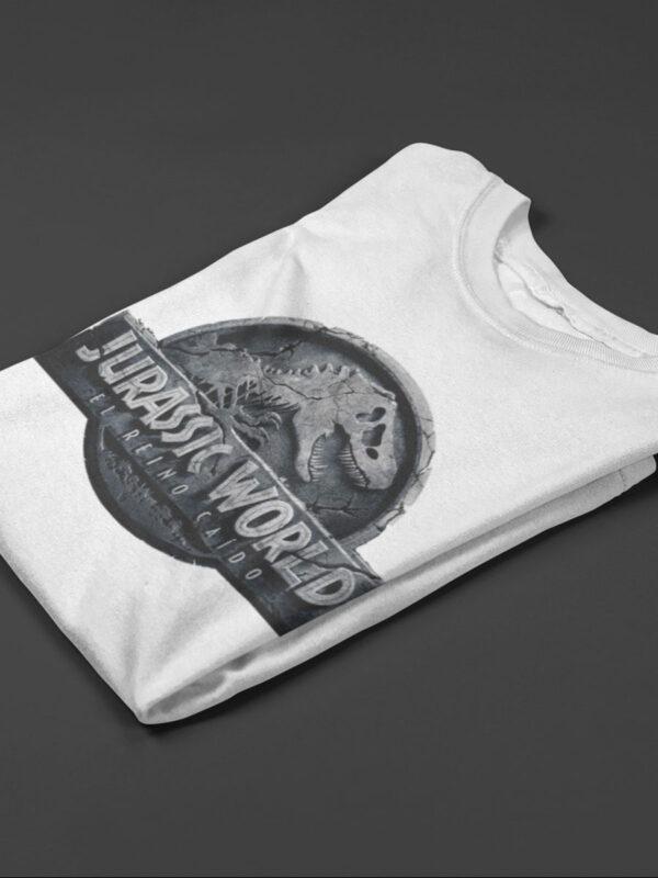 camiseta de jurassic world blanca
