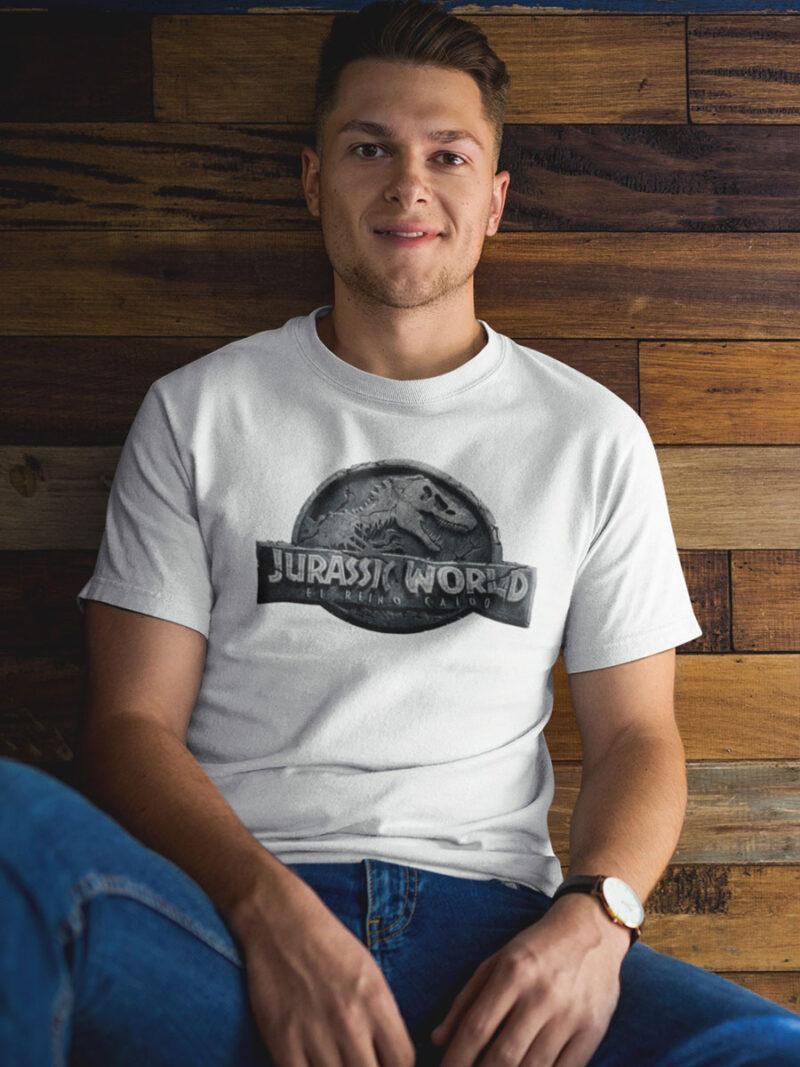camiseta de jurassic world blanca adulto