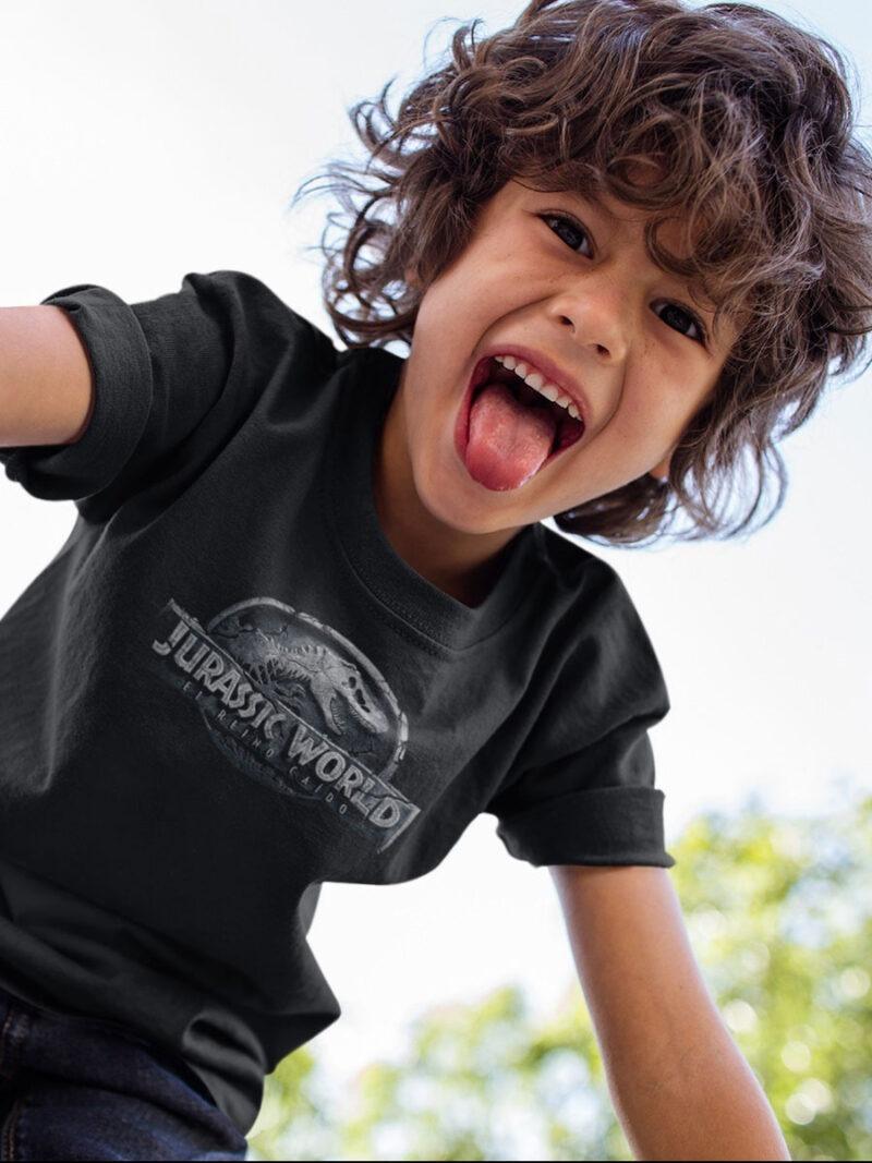 camiseta de jurassic world negra nino