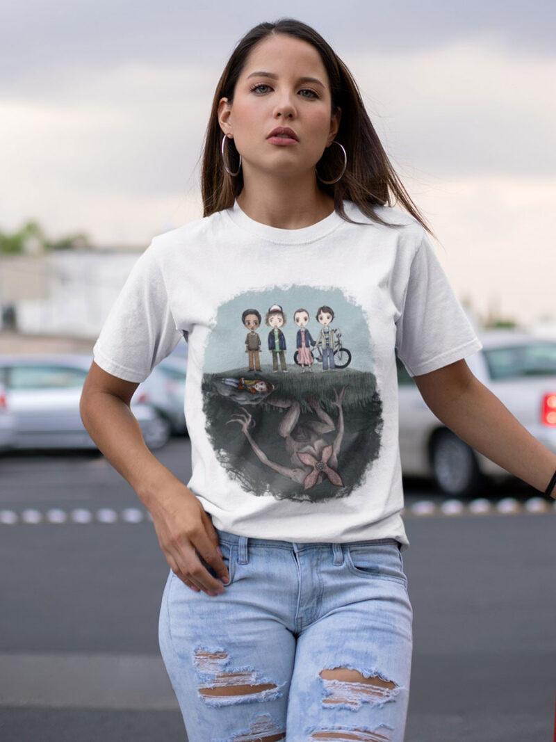 camiseta de stranger things del reves