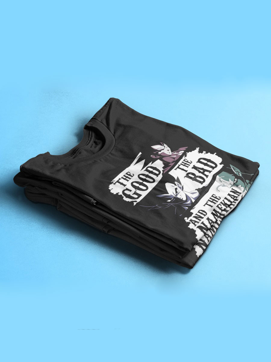 camiseta doblada dragon ball goku vegeta y picolo