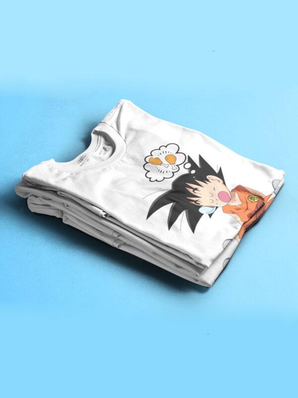 camiseta doblada goku gloton de dragon ball
