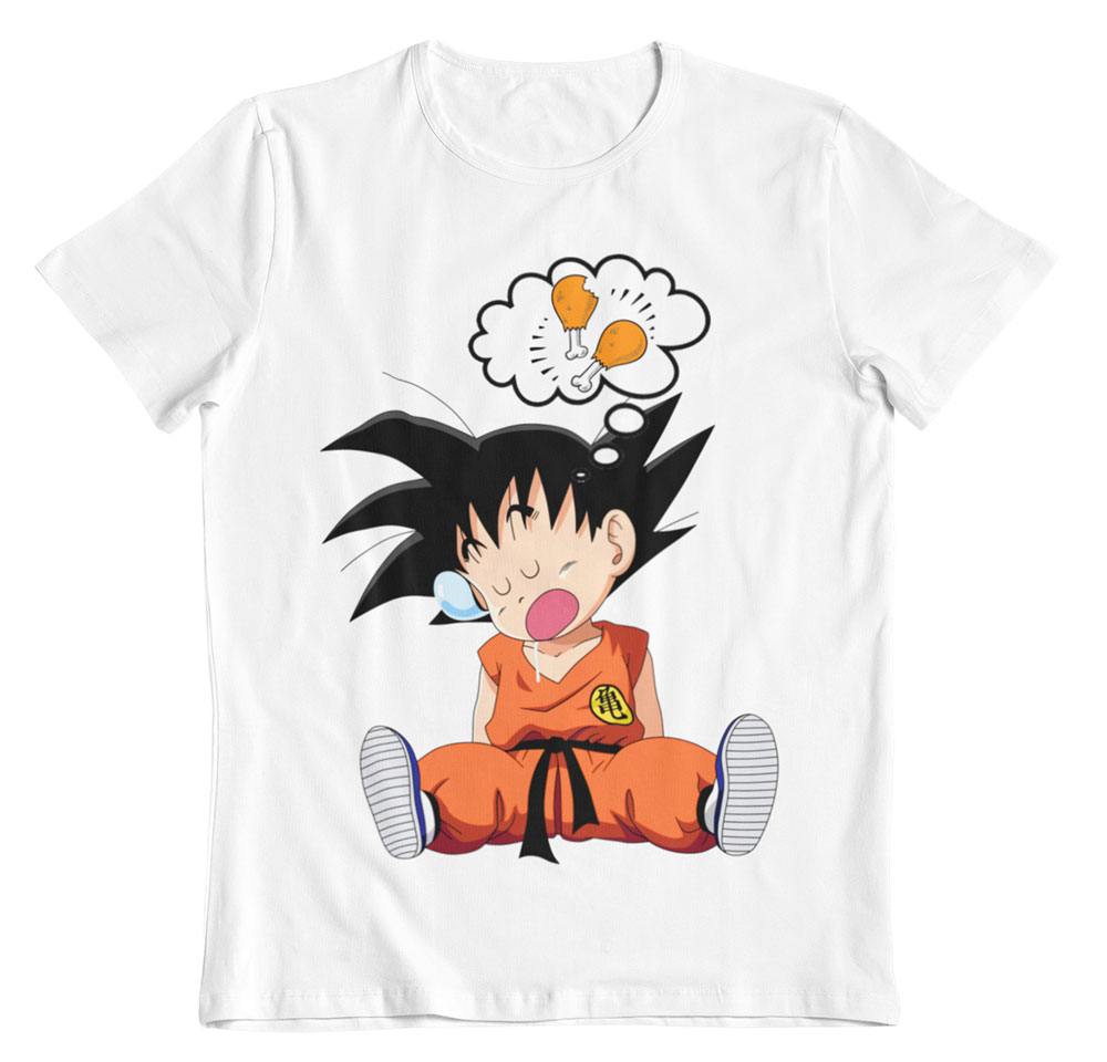 Camiseta Dragon Ball hambriento Goku