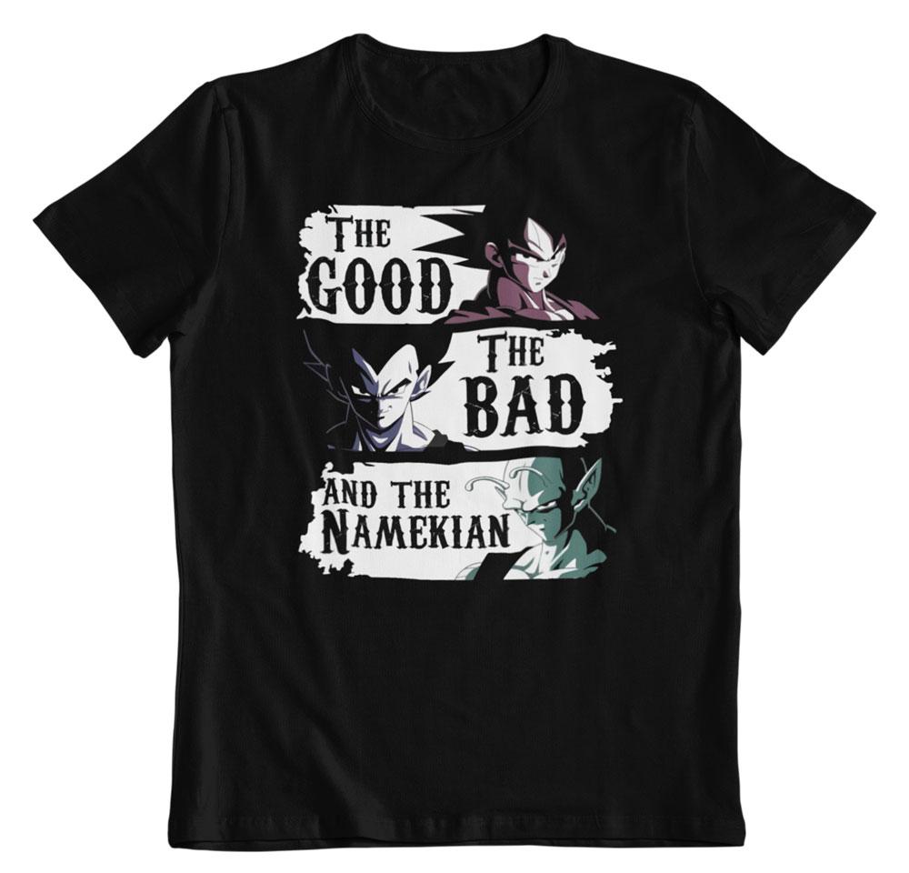 Camiseta Dragon Ball the Good the Bad and the Namekian