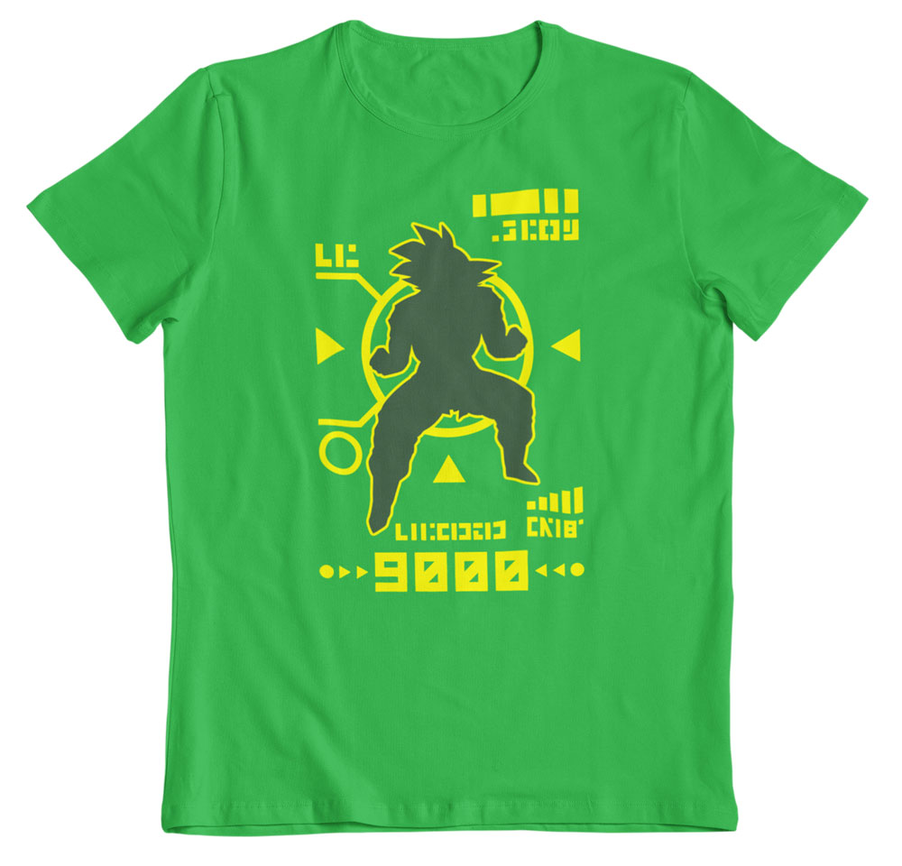 Camiseta Dragon Ball Z nivel de combate