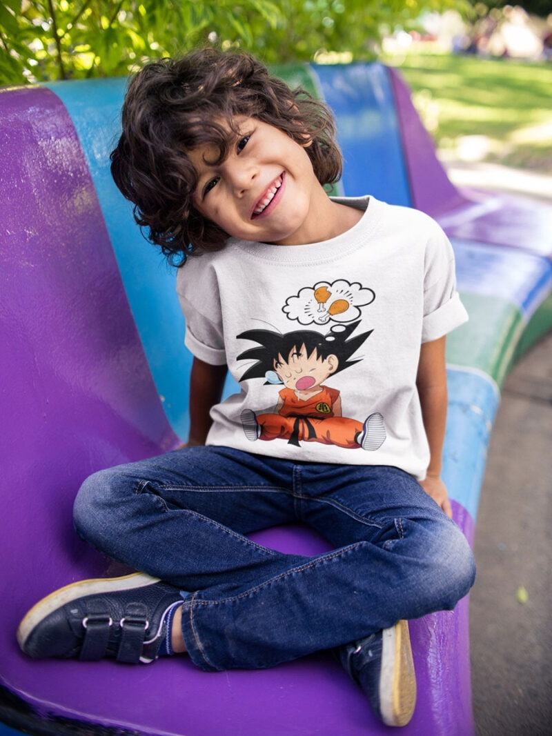 camiseta goku gloton de dragon ball niño
