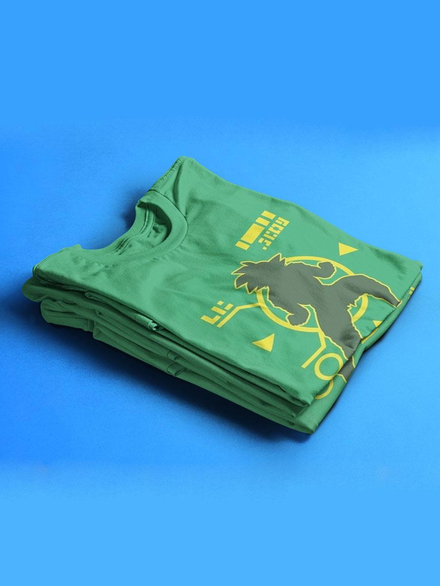 camiseta kakarot dragon ball nivel de combate