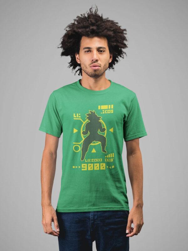 camiseta kakarot nivel de combate