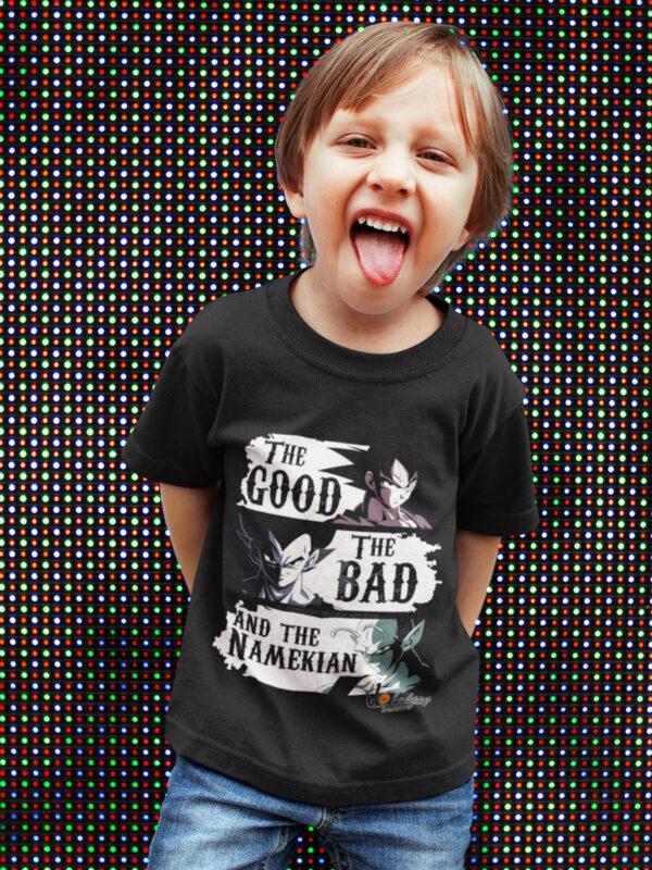 camiseta niño dragon ball goku vegeta y picolo