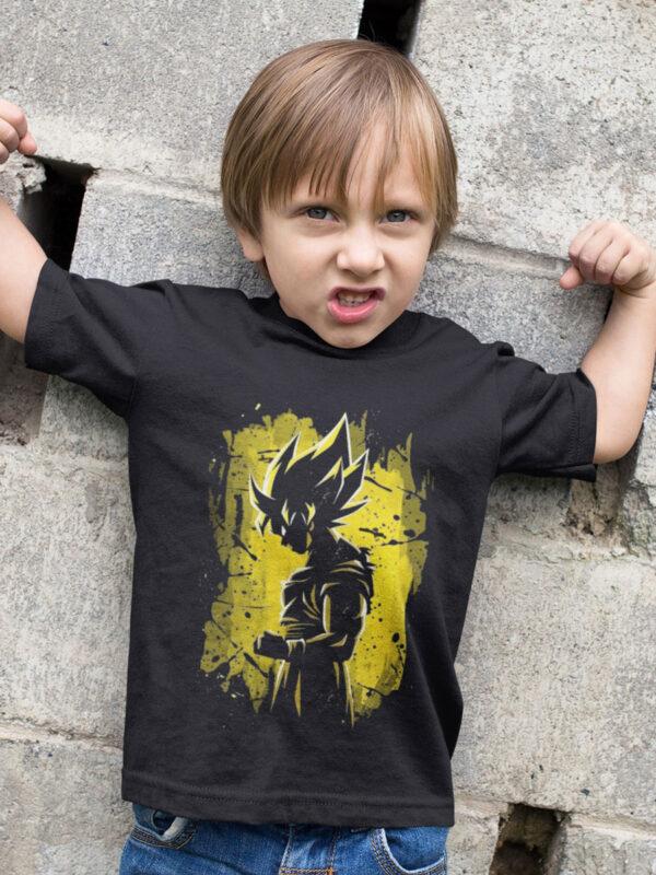camiseta niño son goku el super saiyan legendario