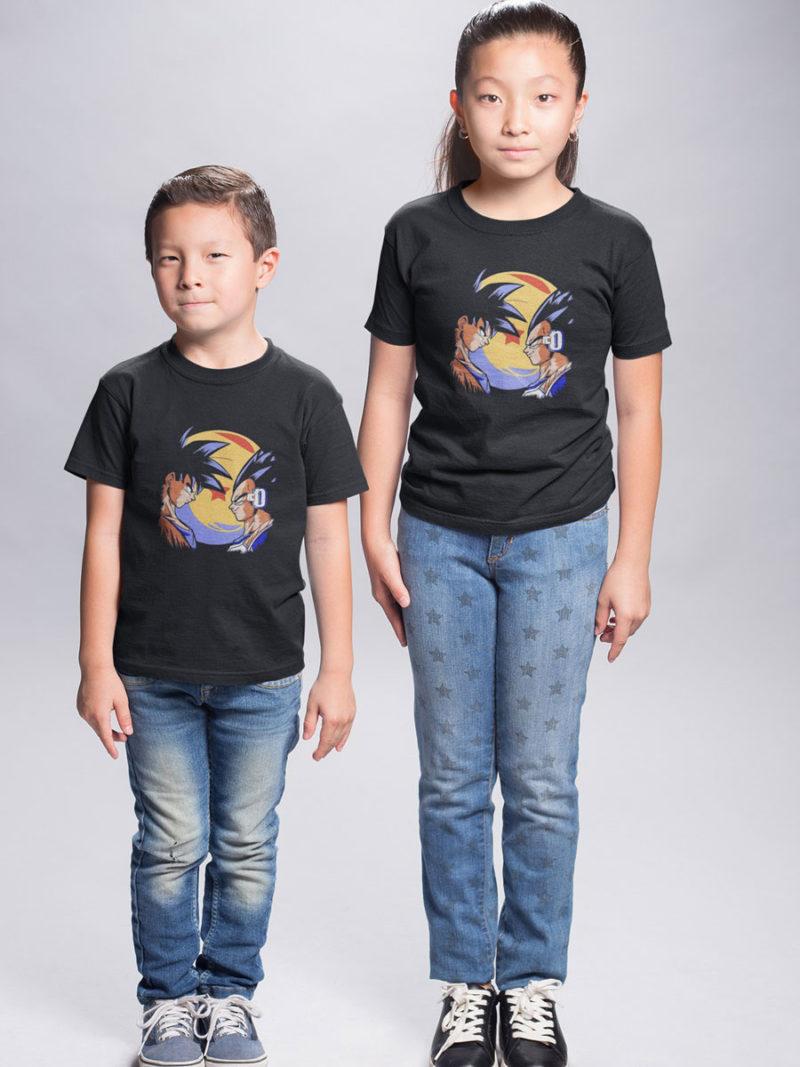 camiseta para niño dragon ball goku vs vegeta