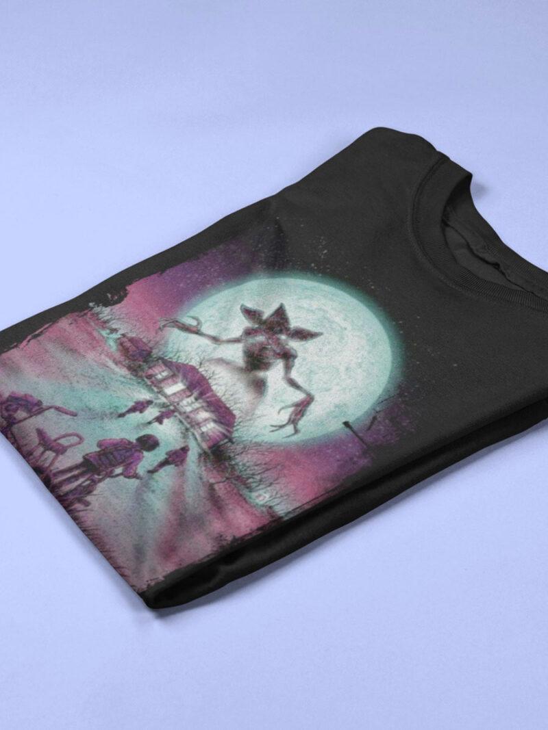 camiseta stranger things negra