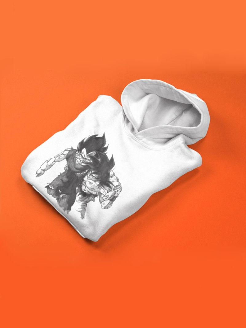 sudadera capucha doblada de goku y vegeta dragon ball para niño