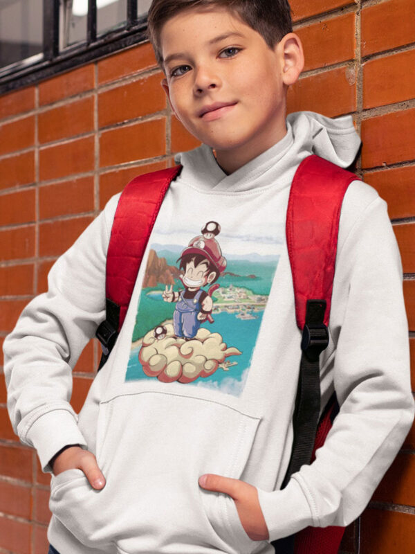 sudadera capucha niño goku y mario