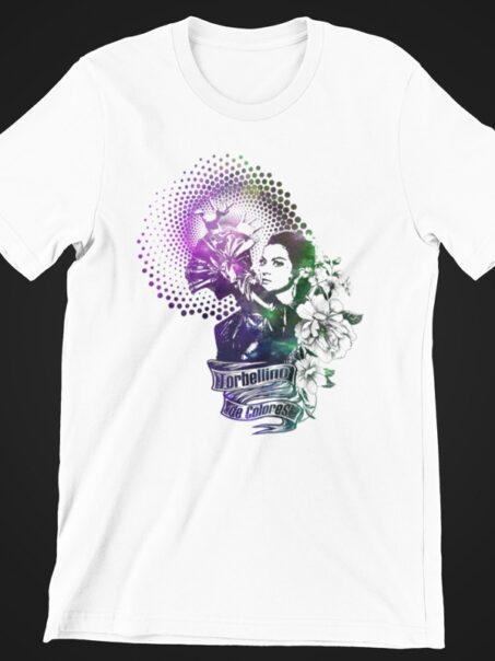 camiseta lola flores torbellino de colores