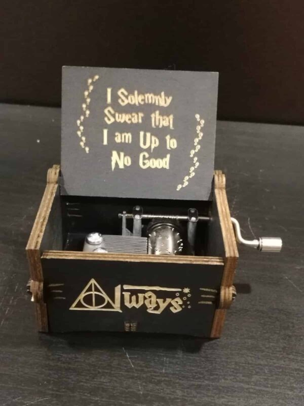 caja musical con la musica de harry potter