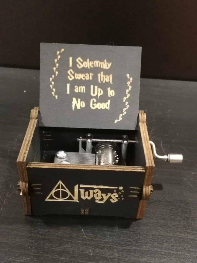 caja musical con la musica de harry potter