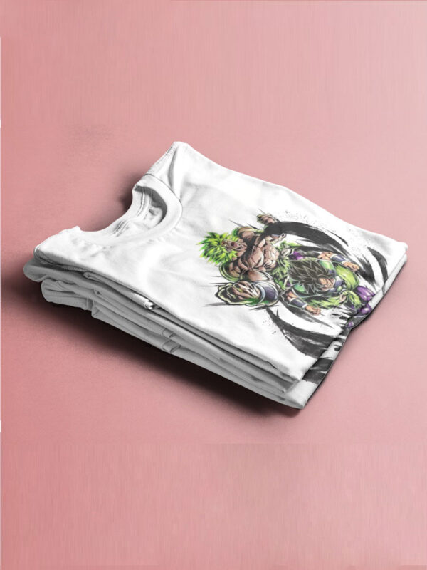 camiseta dragon ball broly blanca doblada
