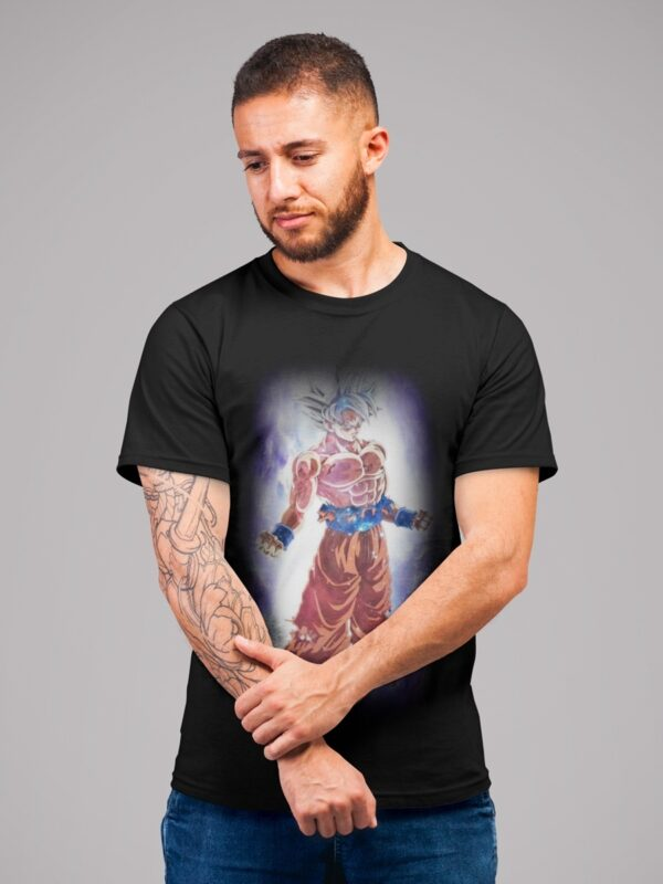 camiseta dragon ball super goku ultra instinto adulto negra