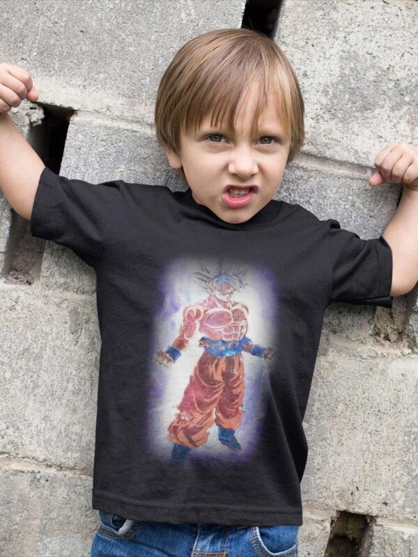 camiseta dragon ball super goku ultra instinto color negro para niño