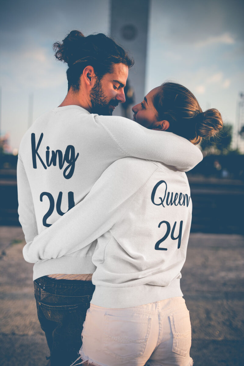 sudaderas king y queen en blancas