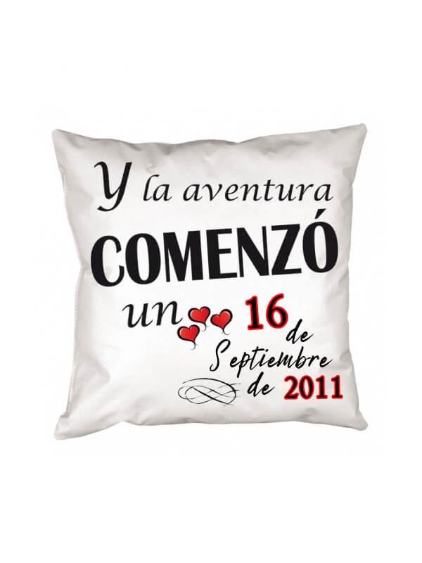 Cojín Aniversario de Amor