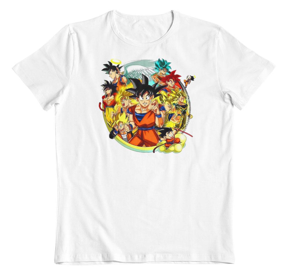 Camiseta Dragon Ball transformaciones