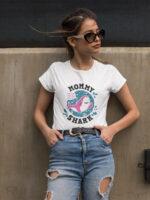 camiseta dia de la madre mummy shark en balnca