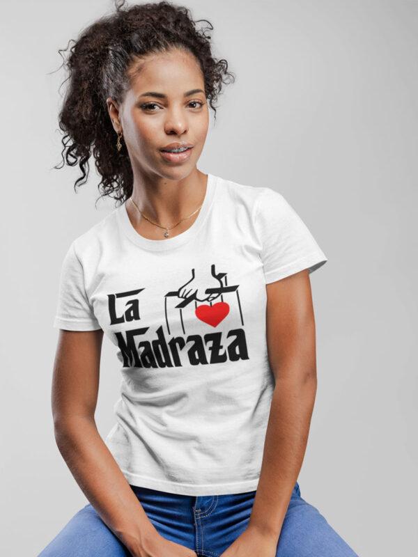 camiseta la madraza dia de la madre color blanca entallada