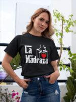 camiseta la madraza dia de la madre color negro
