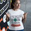 camiseta para el dia de la madre cincuenta años en blanca