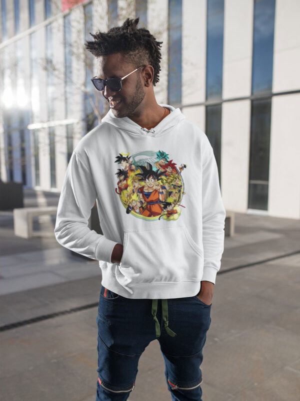 Camiseta Dragon Ball Goku niveles de combate