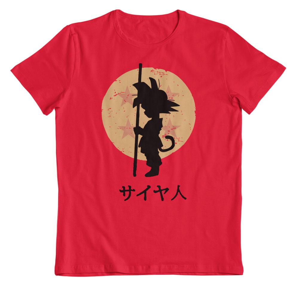 Camiseta Dragon Ball el pequeño Goku roja