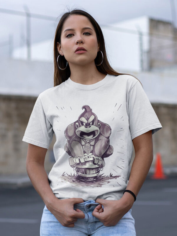 camiseta de donkey kong blanca