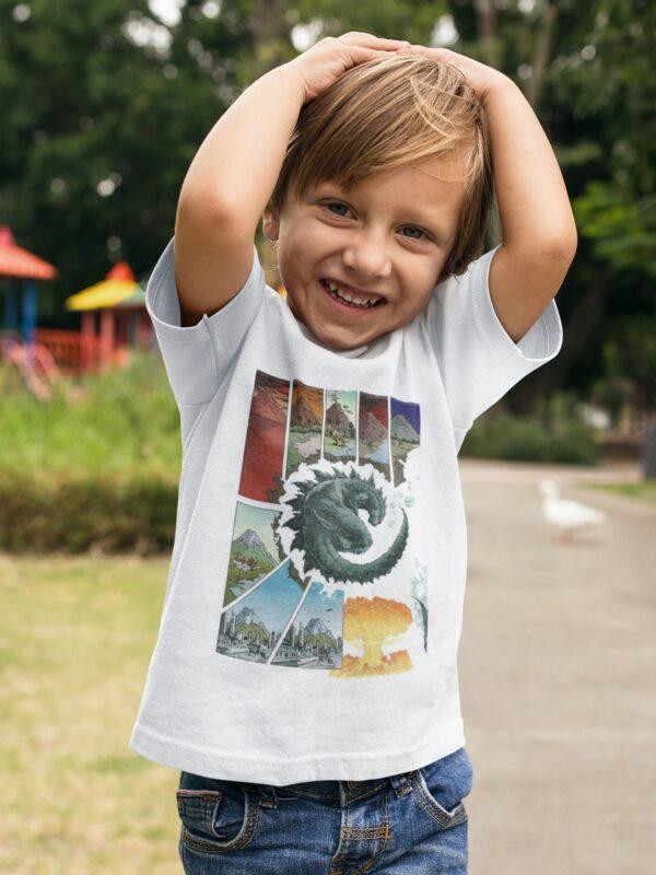 camiseta de godzilla nino