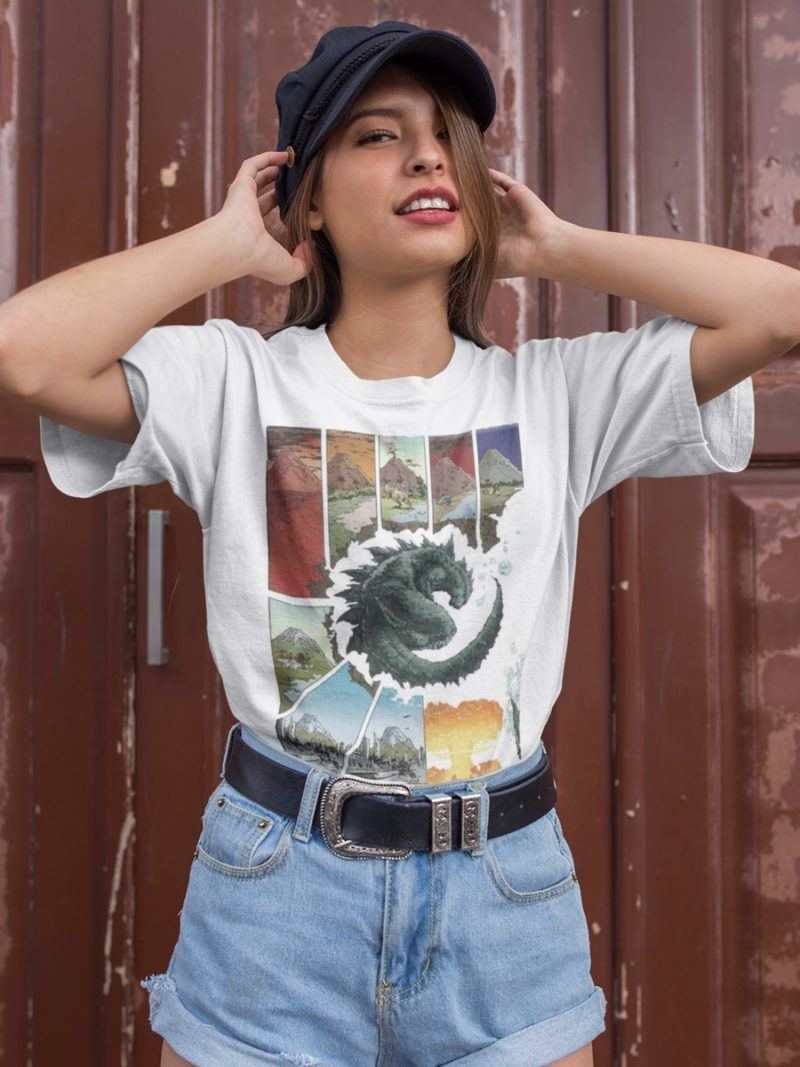 camiseta de godzilla unisex