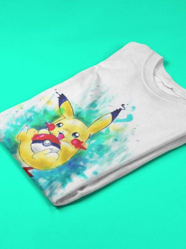 camiseta de pokemon blanca