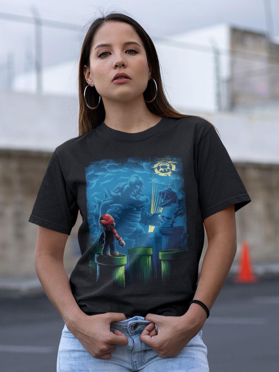 camiseta de super mario bross unisex
