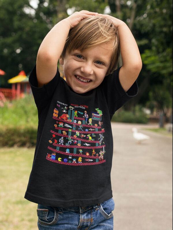 camiseta de videojuegos retro nino