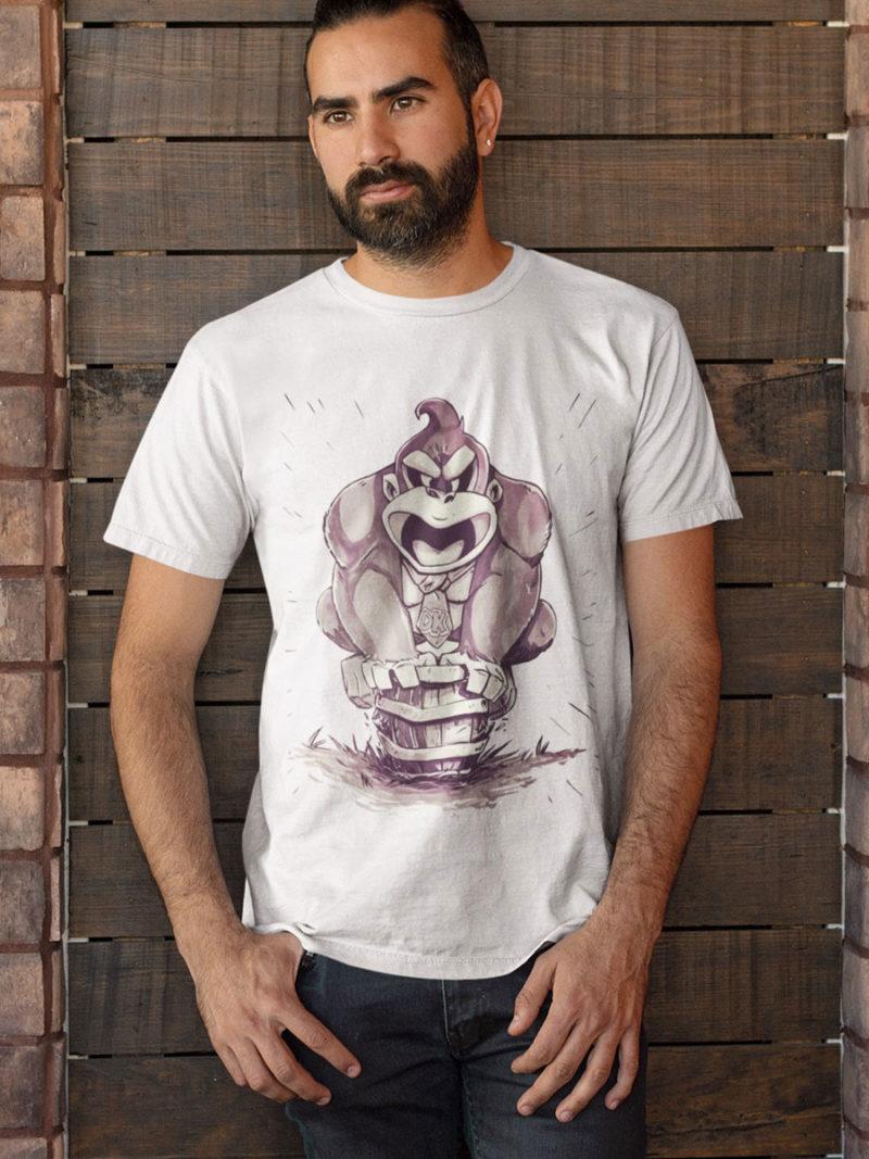 camiseta donkey kong adulto