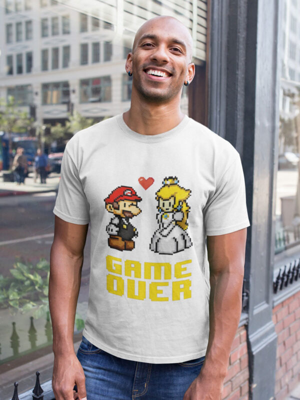 camiseta game over me caso