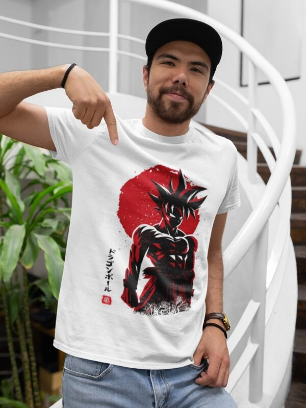 camiseta goku dragon ball blanca