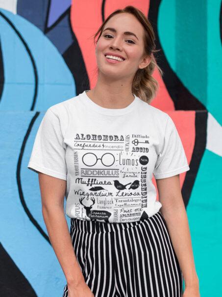 camiseta harry potter hechizos
