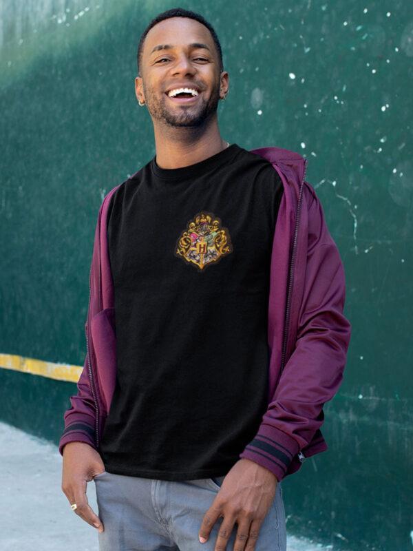 camiseta hogwarts negra