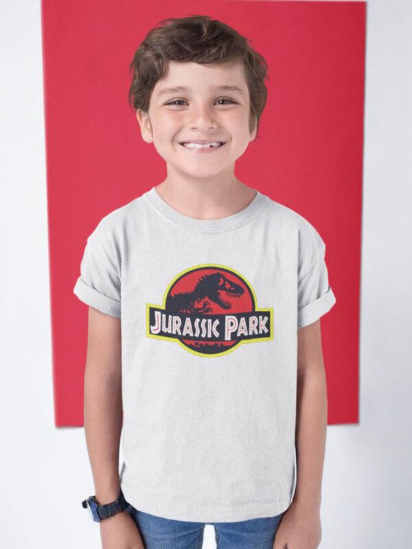 camiseta jurassic park blanca nino