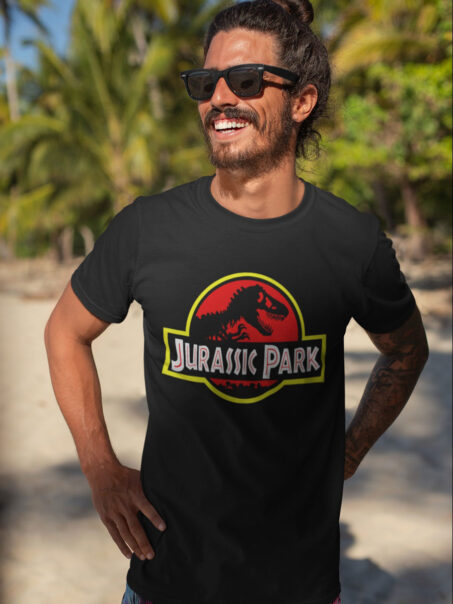 camiseta jurassic park negra adulto