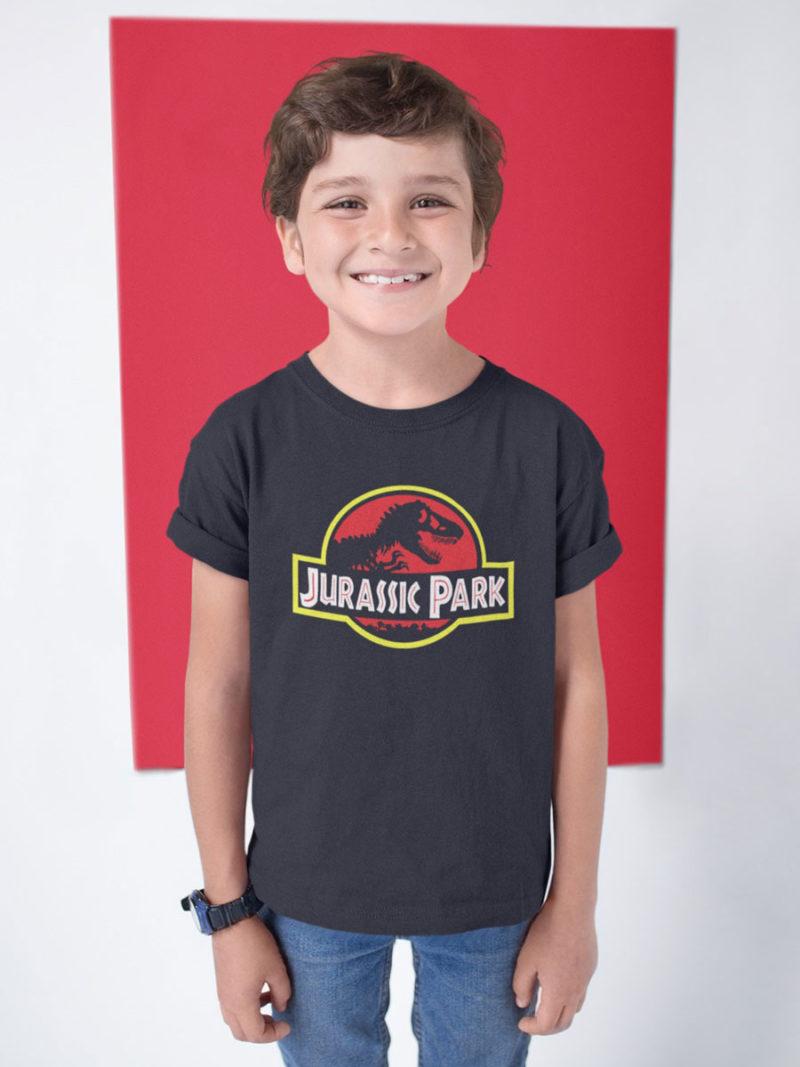 camiseta jurassic park negra nino