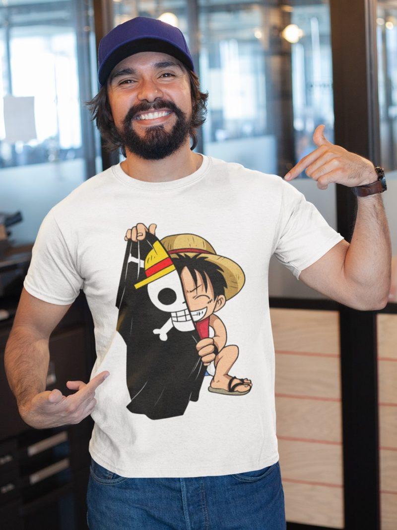 camiseta one piece adulto