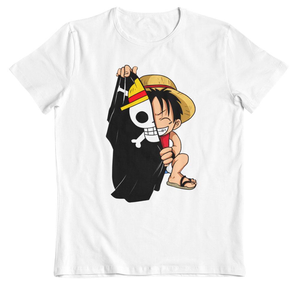 Camiseta One Piece blanca